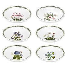 portmeirion botanic garden 8 inch soup plate set of 6 portmeirion uk