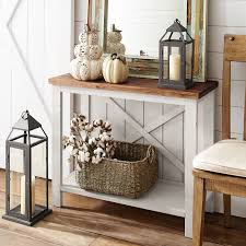 farmhouse white small console table pier 1 imports