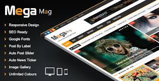 templates v1 blogger mega mag responsive magazine blogger template by pbthemez