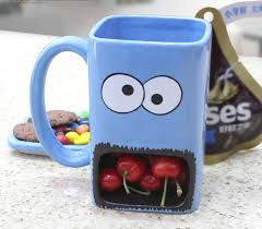 hand painted monster cookie holder coffee mug feelgift