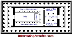 floor plan of the parthenon parthenon plan doric temples pinterest