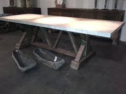 perfect ideas cement dining table cozy trestle base concrete