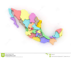 mexico map with regions stock images image 29436464