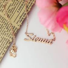 Name Necklace Gold Rose Gold Sienna Name Necklace