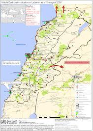 Map Of Lebanon Maps Related To Israel Lebanon War 2006 Just World Educational