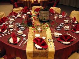 Table Wedding Decorations Astounding Maroon And Gold Wedding Decor 45 On Table Runners