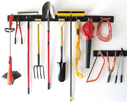 how to hang tools in shed amazon com wallpeg 8 foot garden tool organizer garage wall
