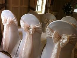 lace chair sashes the chair covers i want white lace bows with some