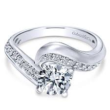 gabriel and co engagement rings ellaria 14k white gold bypass engagement ring er10313w44jj