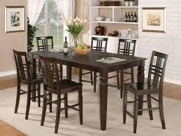 Bar Height Dining Room Table Bar Height Dining Set Black Oak Wood Table Unify Granite Table Top