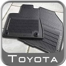 floor mats for toyota 2014 2017 toyota highlander rubber floor mats from brandsport