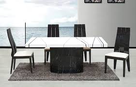 black marble dining room table interior design