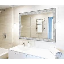 Wall Mirror For Bathroom Brushed Silver Wall Mirror Wayfair