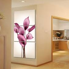 aliexpress com buy beautiful lily flowers printed on canvas 3