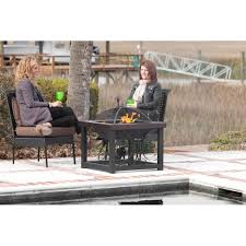 cocktail table fire pit tone bronze finish cocktail table fire pit