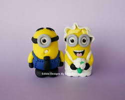 edible minions edible fondant minion inspired wedding cake topper cakepins