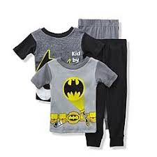 batman toddler boys batman pajama set with removable cape