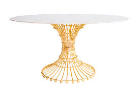 Transitional Home Transitional Dining Room Charlotte Gilded Cage Dining Table By Fisher Weisman Traditional
