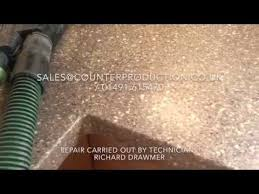 Corian Repairs Dupont Corian Repair Youtube