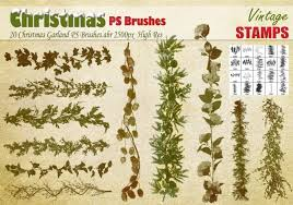 christmas garland ps brushes free photoshop brushes at brusheezy