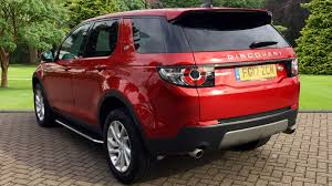 land rover discovery sport 2017 red used land rover discovery sport se td4 180 red fg17zcn