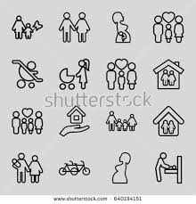Mother Icons Set Set  Mother Stock Vector  Shutterstock - Family changing room