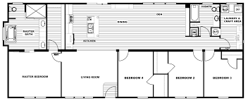4 bedroom floor plan p the revere hawks homes manufactured