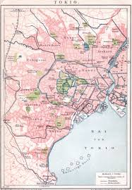 World Map 1950 Cartography Old Tokyo