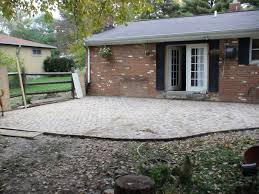 How To Install Pavers For A Patio Chez V Tales From The Projects Diy Paver Patio Pond