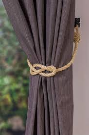 Curtain Tie Backs For Nursery Simple Knot Rustic Nautical Sisal Curtain Tiebacks Nautical