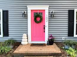 Deep Silo Builder Grey House Pink Door Paint Valspar Hint Of Cherry Mastic