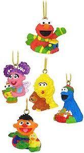 sesame character ornaments diy ideas