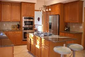 kitchen brown wall cabinets white hanging lamp manly breakfast