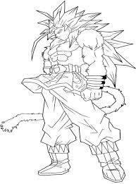 goku ssj5 coloring pages coloriage dragon ball z gogta az