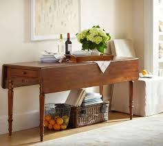 Drop Leaf Console Table Leaf Console Pottery Barn