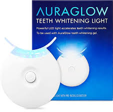 how to use teeth whitening gel with light auraglow teeth whitening accelerator light 5x more powerful blue