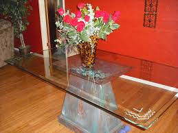 Dining Table Glass Top Online Hand Crafted Custom Dining Table Pedestal With Carved Glass Top By