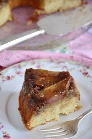 ginger spiced pear upside down cake