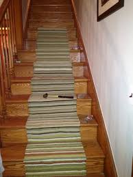 architecture simple staircase design with striped stair runners