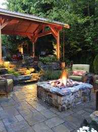 Rock Patio Design Wonderful Backyard Stone Patio Design Ideas Flagstone Patio