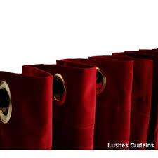Burgundy Velvet Curtains 8 Ft High Cotton Velvet Curtains With Grommet Eyelet Top Lushes