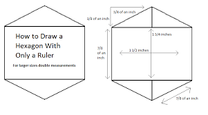 6 inch hexagon template
