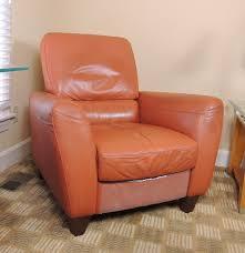 italsofa salmon orange leather recliner ebth