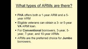 va arm loan adjustable rate mortgages 101