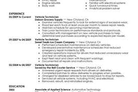 Sample Resume For Automotive Technician by Resume Cover Letter District Auto Body Shop Manager