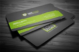 Template For Business Cards Free Download Simple Rounded Business Card Template With Qr Code Available For