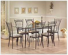 Rod Iron Dining Room Set Furniture Extraordinary Metal Dining Room Table And Chairs 17 On