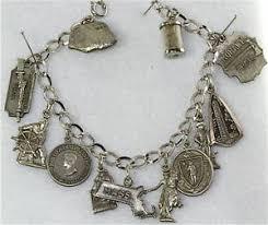 vintage charm bracelet necklace images Vintage massachusetts sterling silver charm bracelet ebay jpg