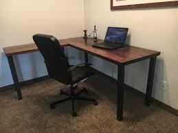 L Shaped Metal Desk L Shaped Desk Reclaimed Wood Desk Rustic Desk