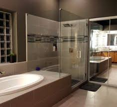 frameless shower door with notched inline panel and 90 degree